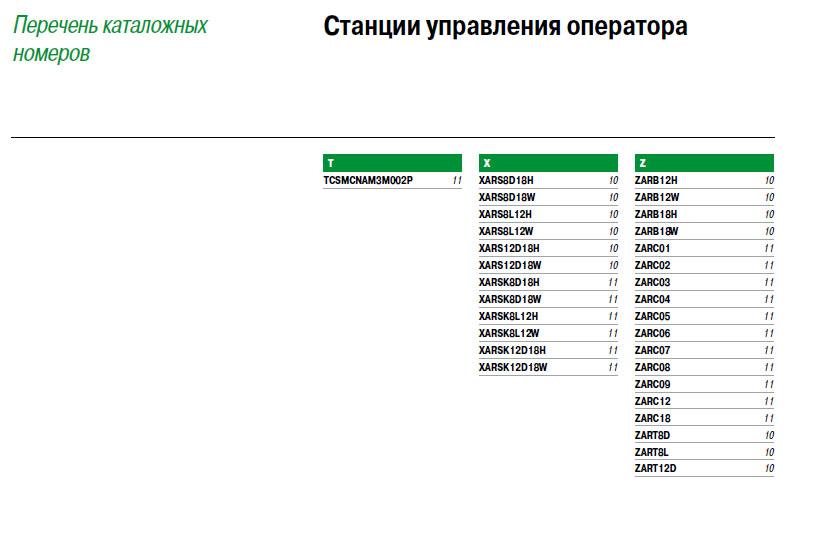 Каталожные номера Harmony® eXLhoist Schneider Electric