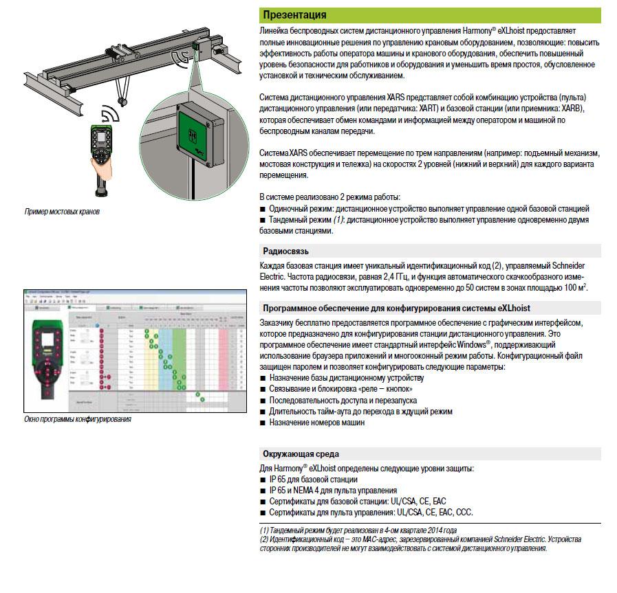 Презентация систем радиоуправления перемещением грузов Harmony® eXLhoist Schneider Electric