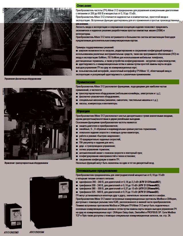 преобразователи частоты Schneider Electric - описание