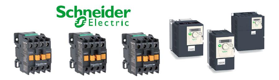 Пускатели электродвигателей, контакторы, реле, преобразователи частоты Schneider Electric