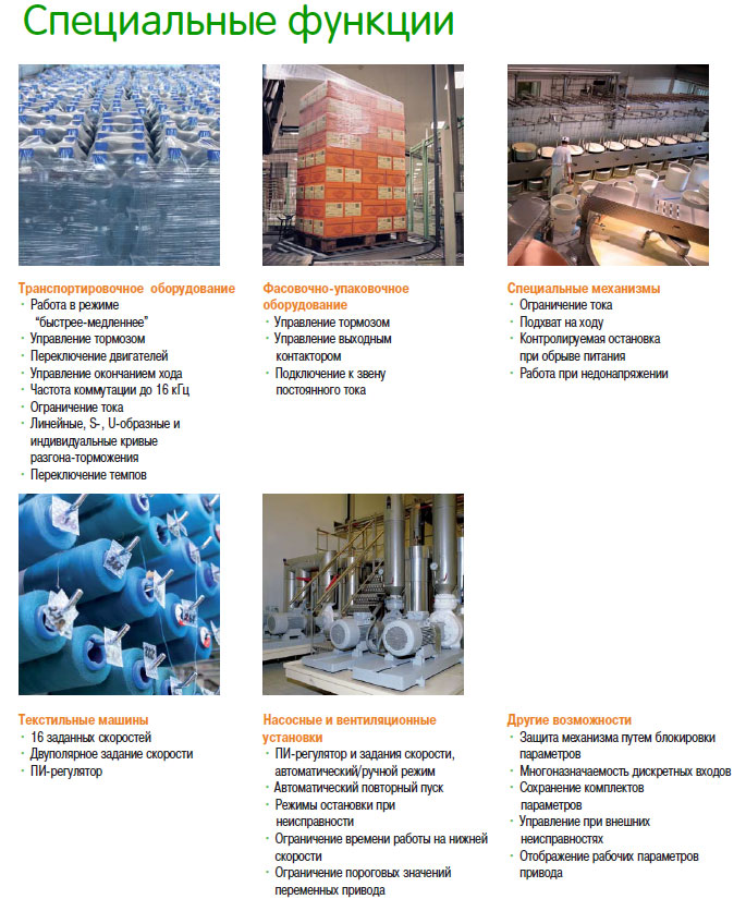 Специальные функции - описание - преобразователи частоты Schneider Electric